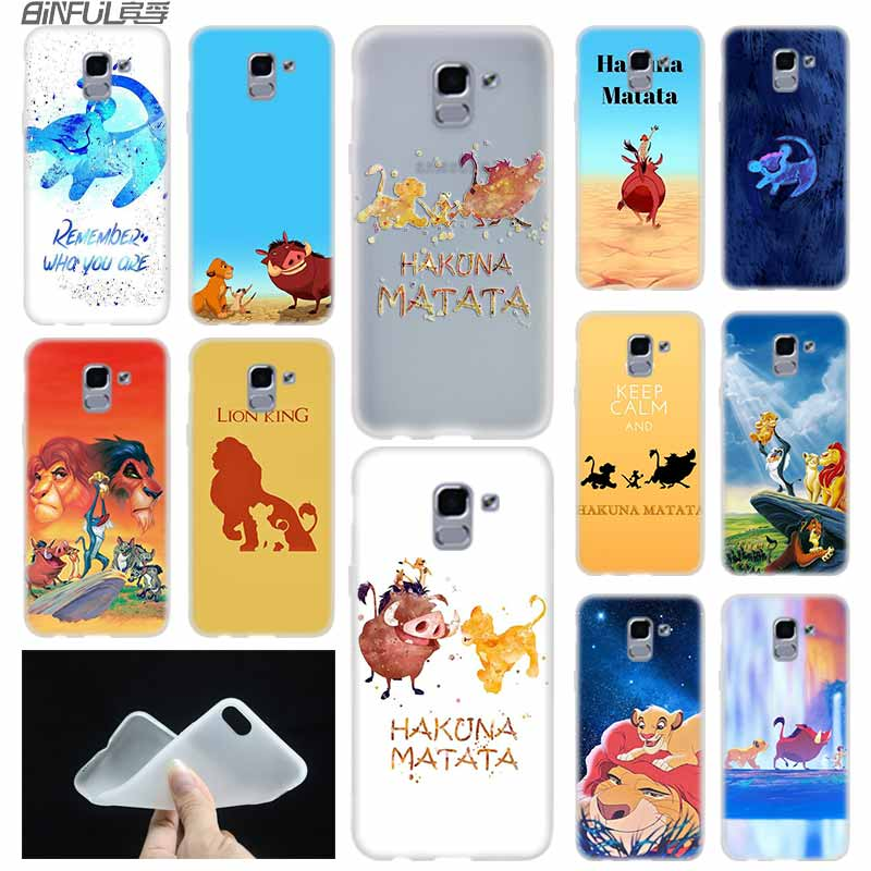 case Soft Cover TPU For Samsung Galaxy J6 J8 J5 J7 J4 Core Plus 2018 2016 2017 EU Prime Pro Ace The <font><b>Hakuna</b></font> <font><b>Matata</b></font> <font><b>Lion</b></font> <font><b>King</b></font> image