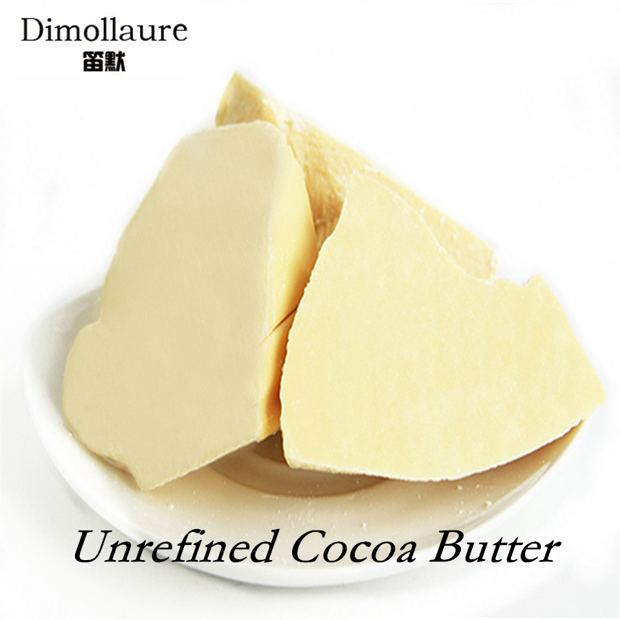 Dimollaure 50g-500g Pure Cocoa Butter Raw Unrefined Cocoa Butter skin care carrier Oil food grade Natural Organic Essential Oil image