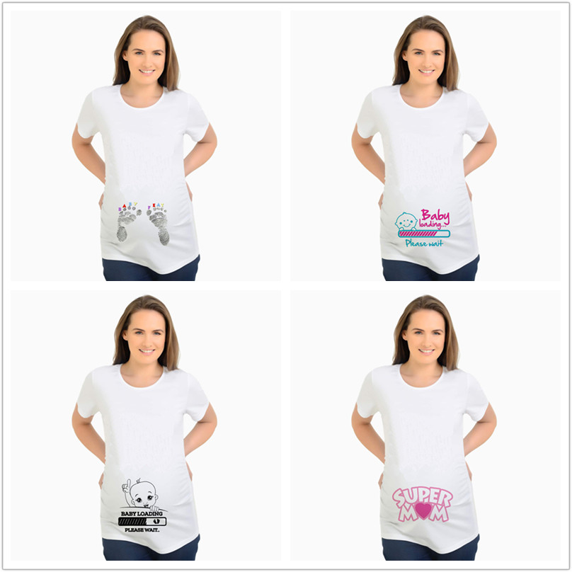 03b50c36 Detail Feedback Questions about Maternity T Shirt Summer T shirts Designer Funny  Tops Pregnant BABY Loading Women Letter Print Casual Cotton Tshirt Plus ...
