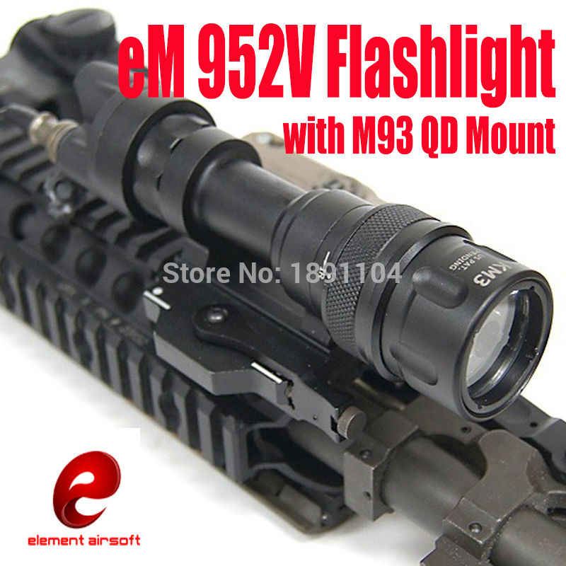 Element Tactical light, linterna LED M952V con montura de luces para armas M93 QD (EX 192)