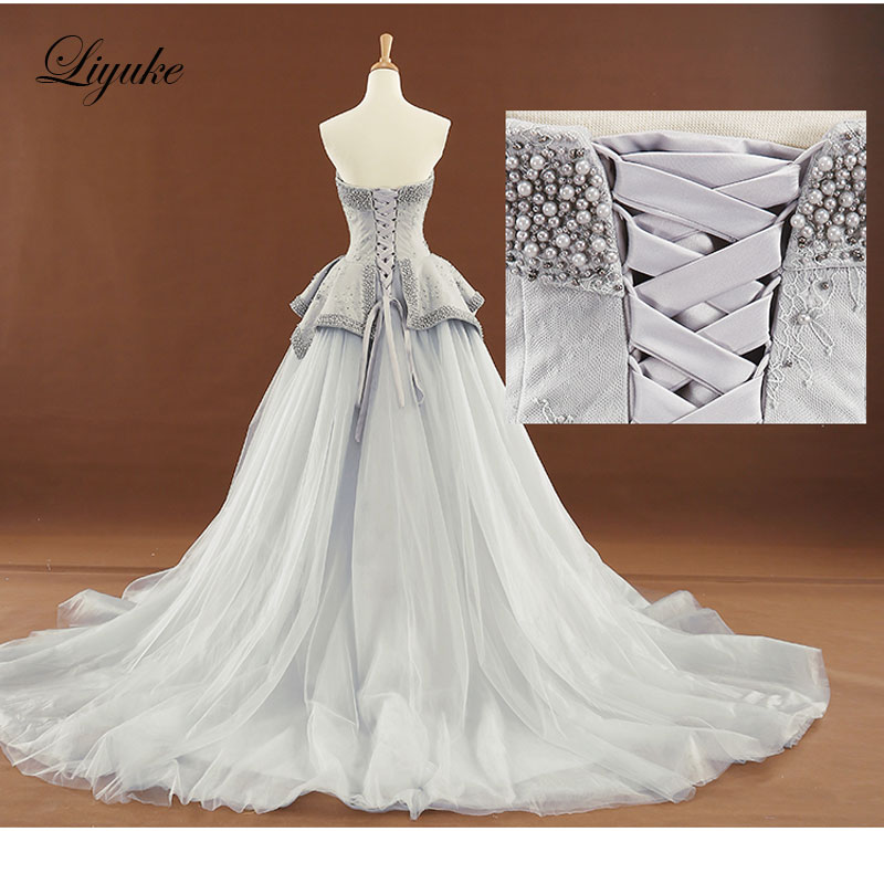 New arrival elegant off the shoulder a line wedding dress customize new arrival elegant off the shoulder a line wedding dress customize color full pearls plus size bridal robe de mariage in wedding dresses from weddings junglespirit Images