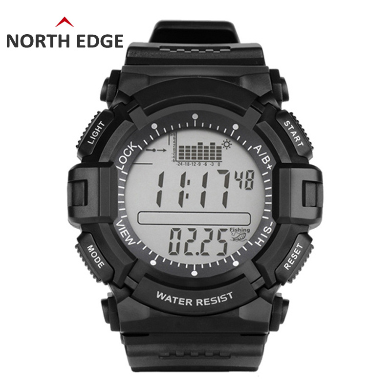 Digital-watch Men watches outdoor digital watch clock fishing altimeter barometer thermometer altitude climbing hiking hours north edge men sports watch altimeter barometer compass thermometer weather forecast watches digital running climbing wristwatch