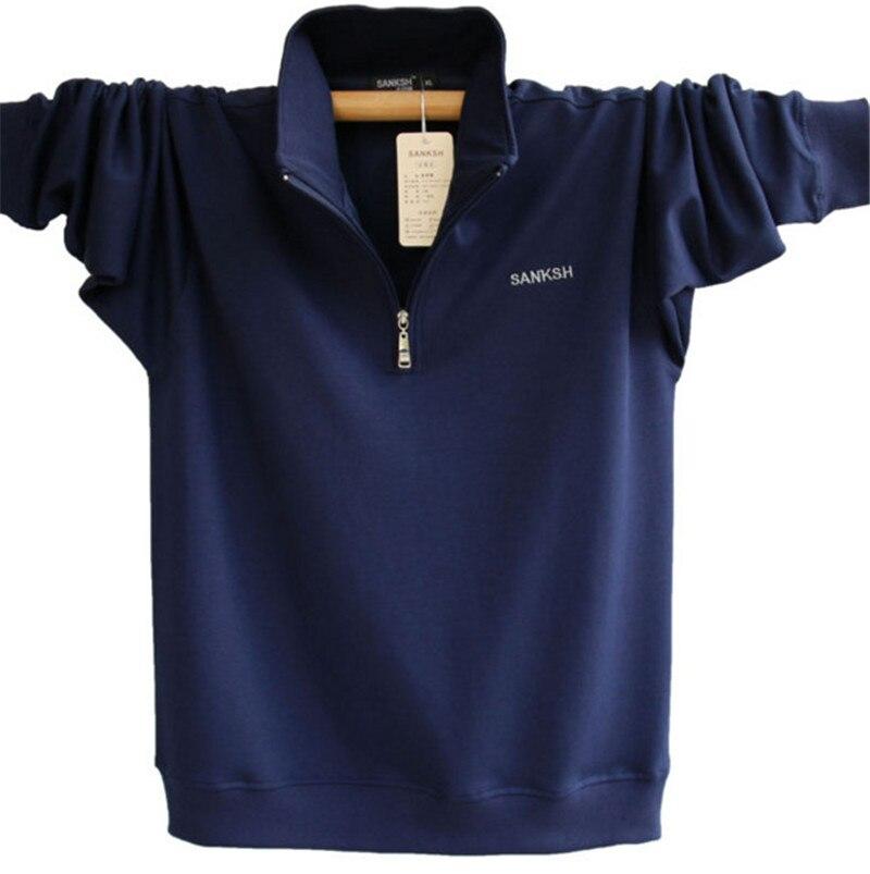 Mens Langarm Polo Shirt Marke Hohe Qualität Plus Größe Stehkragen - Herrenbekleidung - Foto 3