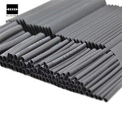 127 piezas. 7,28 m negro 2:1 surtido de tubos termorretráctiles tubo de Cable de coche Kit de alambre de envoltura