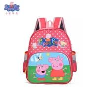 The New Peppa Pig George Cartoon Backpack Plush Stuffed Toys Child Girls Boys Kindergarten School Bag For Kids Christmas gifts