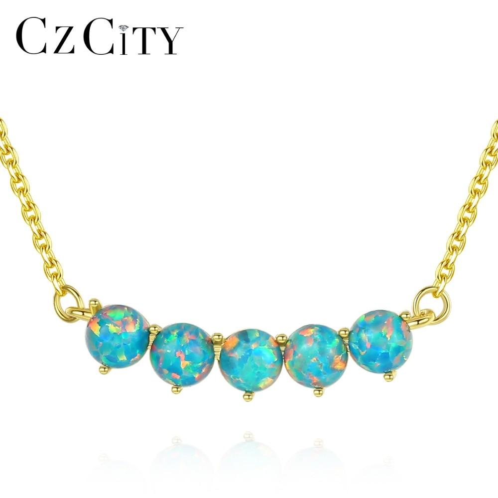 CZCITY nouveau Design 925 en argent Sterling 18K plaqué or pendentif rond collier pour les femmes de mariage élégant Kolye trois couleurs bijoux