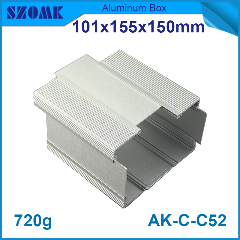 1 piece silver color Aluminium Housing Boite alu extruded aluminum profiles enclosures electronics distribution box ultimate pd 1244b silver alu