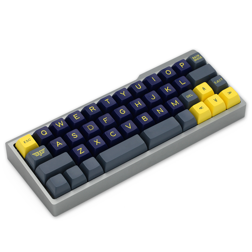 Permalink to Anodized Aluminium case for bm43a bm43 40% custom keyboard acclive angle black silver grey yellow pink blue high profile