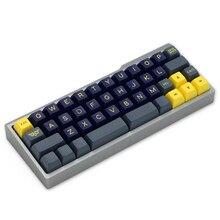 Caixa de alumínio anodizado para bm43a bm43 40% teclado personalizado acclive ângulo preto prata cinza amarelo rosa azul alto perfil