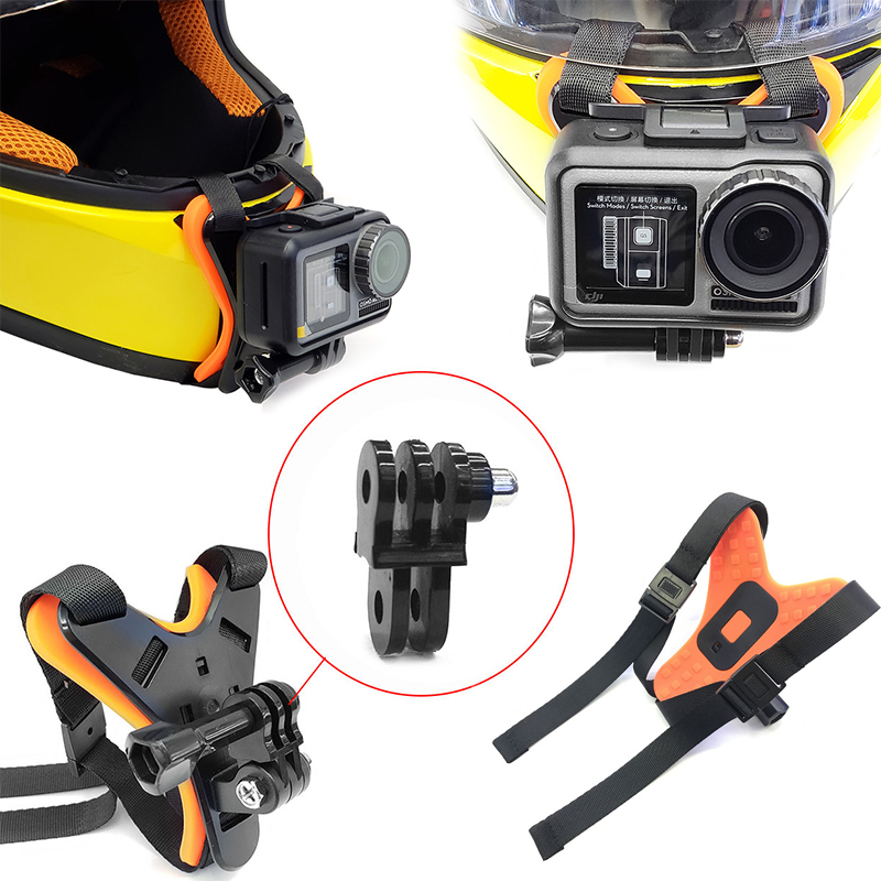 Motorcycle Helmet Camera Chin Mount Bracket For GOPRO Hero 7 5 OSMO Action Cam