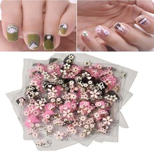 цена на 30Pcs 3D DIY Nail Art Stickers Decals Mixed Designs Transfer Nail Sticker Adhesive Nail Tips Decorations Nail Beauty Stickers E1
