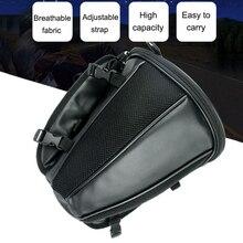 1X Motorcycle Tail Bag Back Seat Storage Backpack Carry Shoulder Bag Waterproof