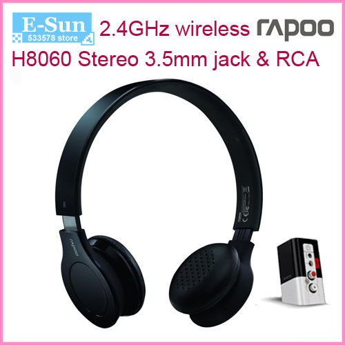 New Chargeable Rapoo H8060 2.4G wireless headset headphone with ...