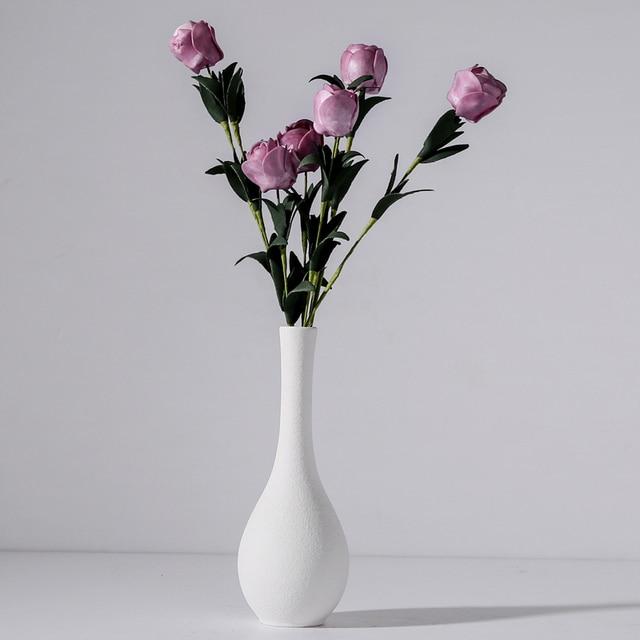 Originality vase decoration home Modern grind ceramic vases Tabletop ceramic vase home decoration accessories Blue gray black 2
