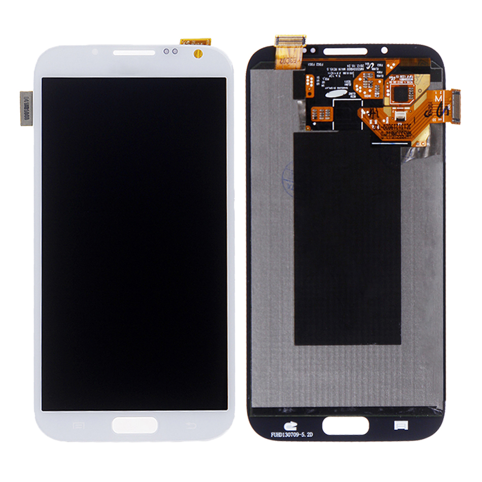 ORIGINAL Burn Shadow LCD for Samsung Galaxy note 2 N7100 N7105 LCD With Frame Display Touch