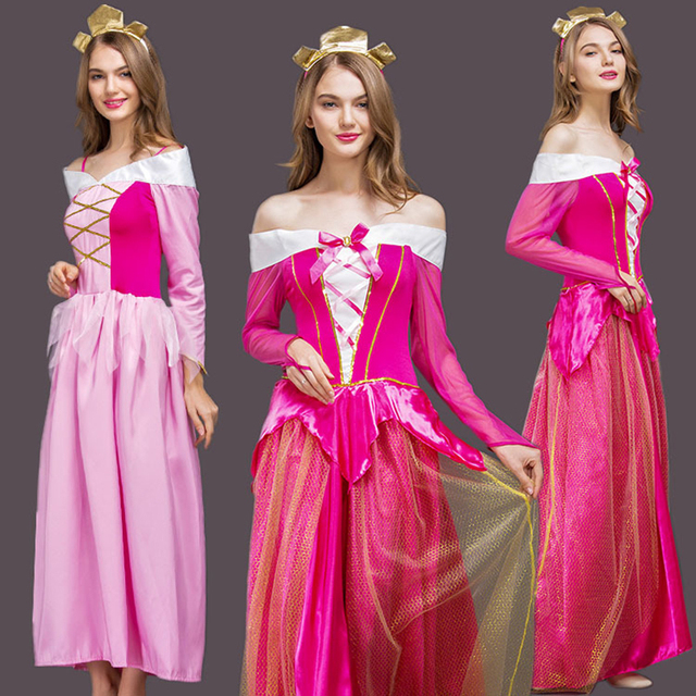 85441741a871f US $31.61 49% OFF|Free shipping new adult Aurora princess pink or rose  dress Halloween sexy Sleeping Beauty cosplay long costume dress for  women-in ...