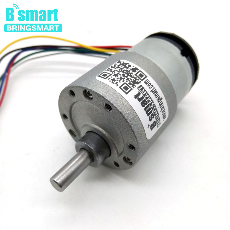 Bringsmart JGB37-520B Encoder Gear Motor DC 12 volt With Encoder Disk A/B Phase Output Micro Electric for Intelligent Parts NewBringsmart JGB37-520B Encoder Gear Motor DC 12 volt With Encoder Disk A/B Phase Output Micro Electric for Intelligent Parts New