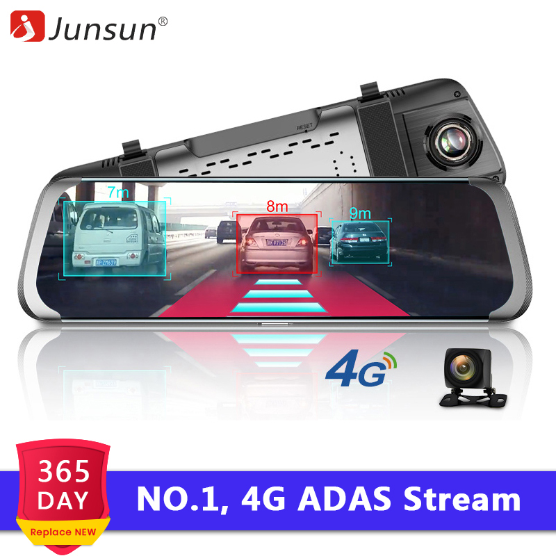 "Junsun A930 4G ADAS Car DVR Camera 10""Android Stream Media Rear View Mirror FHD 1080P WiFi GPS Dash Cam Registrar Video Recorder(China)"