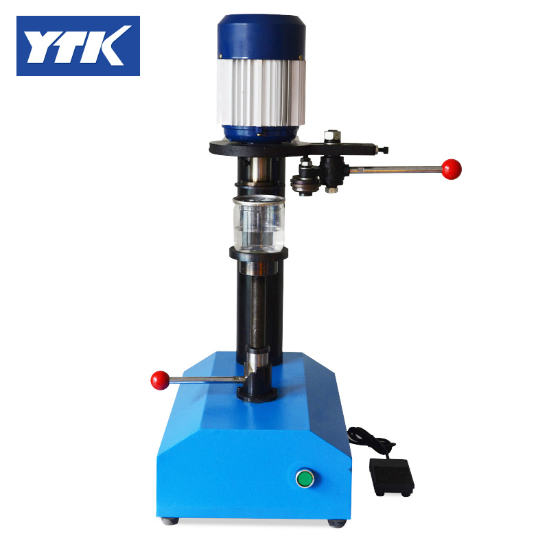 YTK Manually  Paper Plastic Pot Metal Cans Sealing Machine, Capping Machine