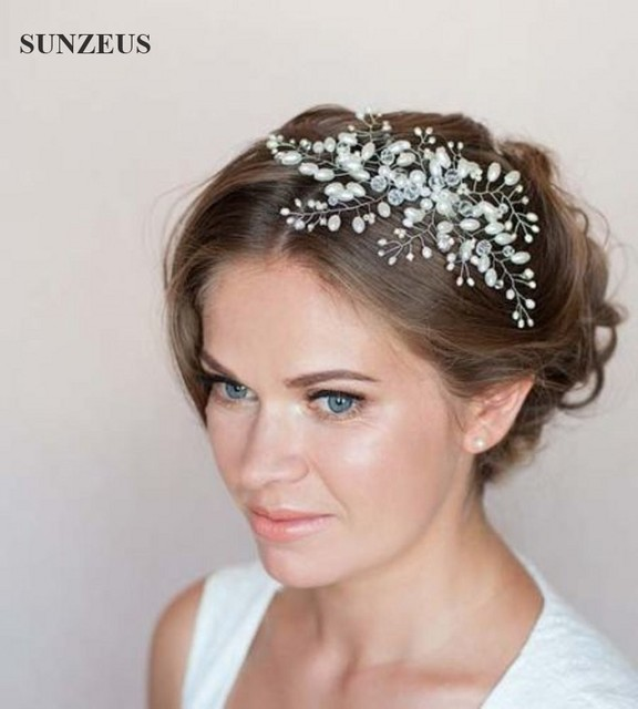 Beautiful Crystal Pearls Bridal Hair Comb Hair Piece New Wedding Accessories Free Shipping SQ090