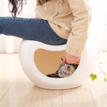 Fine Joy New Arrival Dog Cat Pet Bed Four Season Universal Semi-closed House Villa Stool for Small Supplies