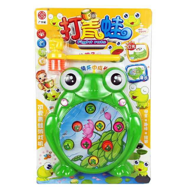 Música elétrica sapo whack-um-toupeira brinquedos eletrônicos brinquedos de inteligência brinquedos para crianças