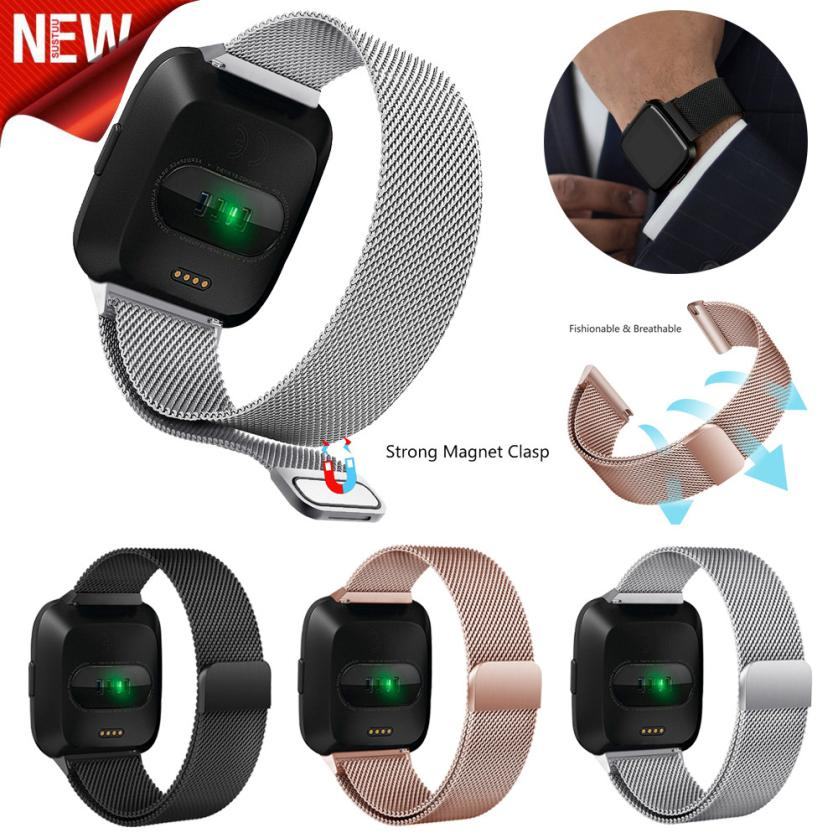 Milanese Magnetic Loop Stainless Steel Band For Fitbit Versa