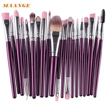 MAANGE 20 pcs Makeup Brush Set tools Make-up Toiletry Kit Wool Make Up Brush Set pincel maquiagem H30426
