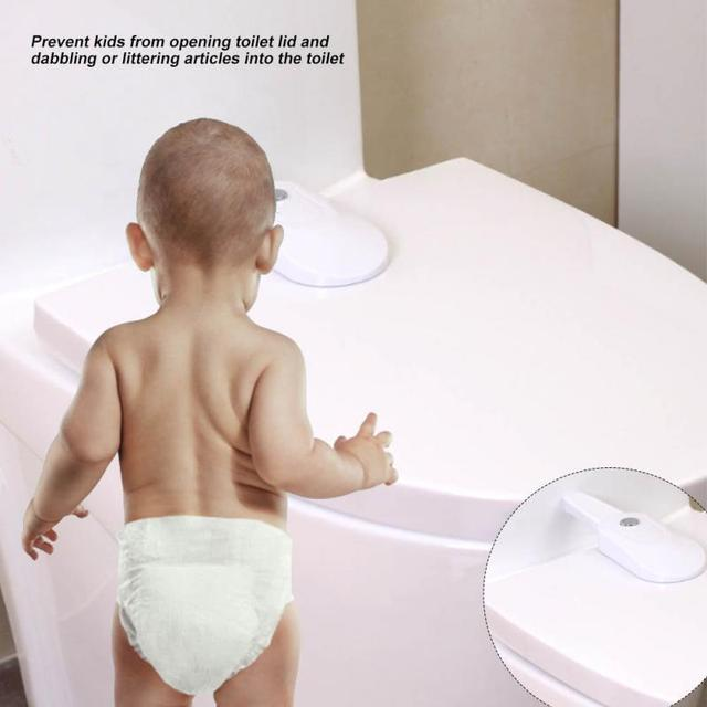 Baby Child kids safety lock Toddler Kids Toilet Seat Lid Locks Security Straps Home Protection Safety Tools Bathroom Accessories