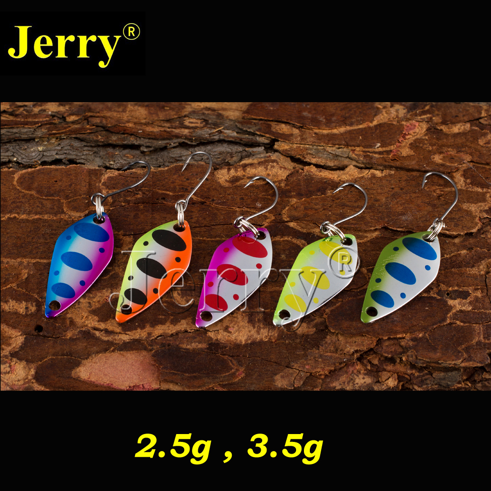 Jerry 5pcs/lot micro fishing spoons trout lures freshwater spinner bait wobbler jerry 1pc 2 8g fishing blade vibes lipless crankbait ultralight micro lures japan trout lures hard body bait metal vib lure