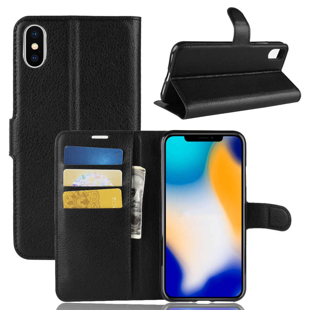 Case Luxury Retro Leather Wallet Flip Cover Cases for Apple iPhone X XS max XR 5 5S SE 5C 6 7 8 plus Coque Book Case Card Slot