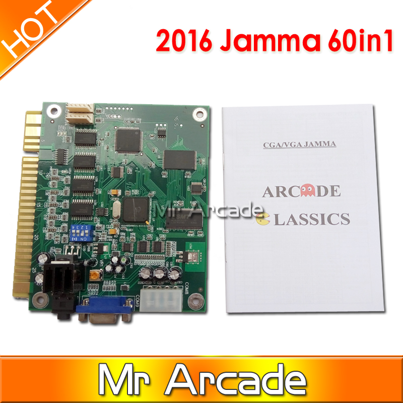 60 in 1 Classical Arcade Game PCB Jamma Multi Game Pcb For Arcade Game Machine Arcade Game Board wms 550 casino game pcb gambling board 8 lines must use touch screen play the game support bill accepter for slot game machine