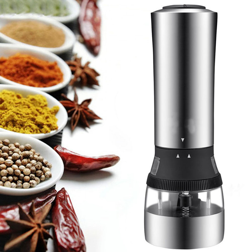 1Pcs  2 in 1 Electric Pepper Mill Salt And Pepper The Grinder Kitchen Cooking Tools moulin à sel et poivre