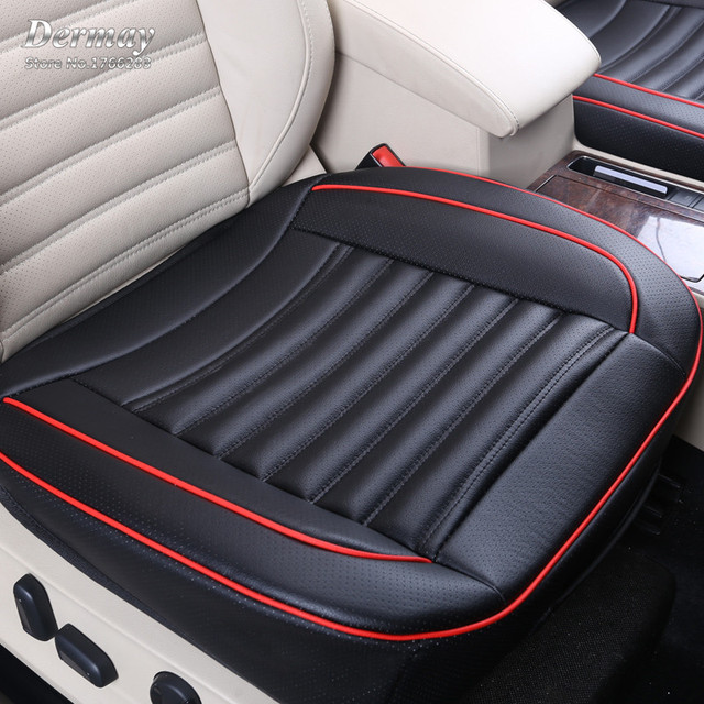 Special Provision Leather Car Seat Cover Universal With Buckwheat shell Inside Good For Health 3D Design 52X50CM Free Shipping