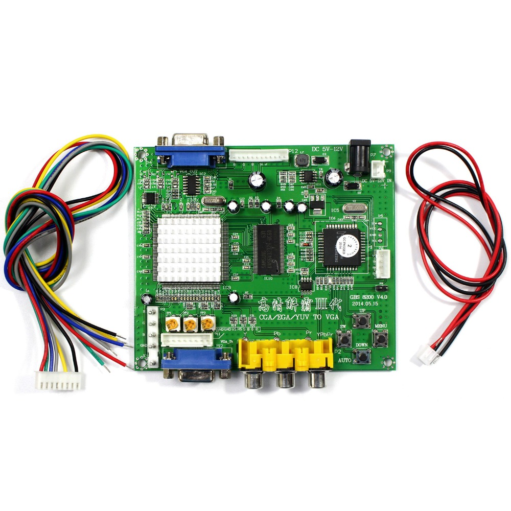 CGA+EGA+RGB to VGA GAME Video Converter Board 1 VGA Output Game Convert GBS8200