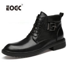 Super Warm High Quality Men Boots Lace-Up Plus Size Autumn Winter Shoes Breathable Wear-Resistant Ankle Snow