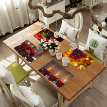 Dining Table Insulation Mat Solid Placemat Cotton and Linen Non-slip Mats Kitchen Accessories Decorative Home Coasters