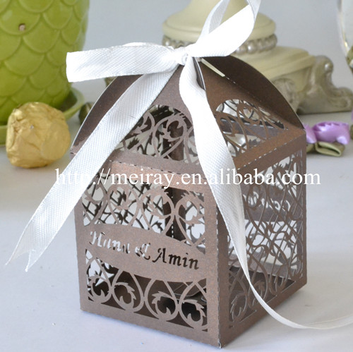100pcs2017 Wedding Favors In The Philippines Laser Cut Favour Boxes