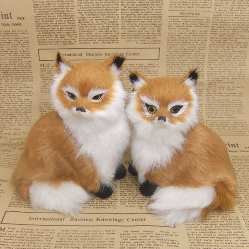 Fox artificial animal plush toy gift photography props model decoration