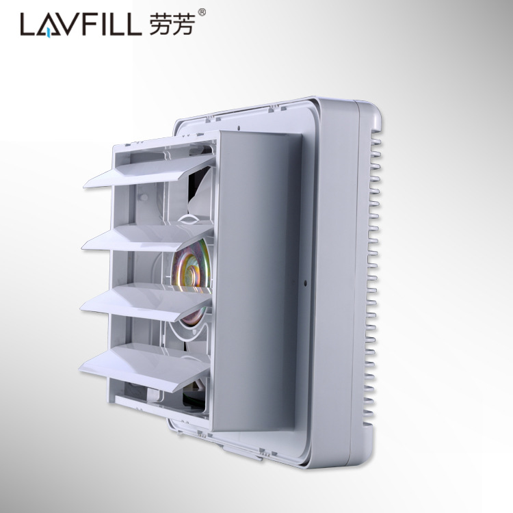 6/8/10 Inch Louver Exhaust Fan Exhaust Fan Inlet Bidirectional Linkage Wall Wall Ventilation Volume Formaldehyde PM2.5