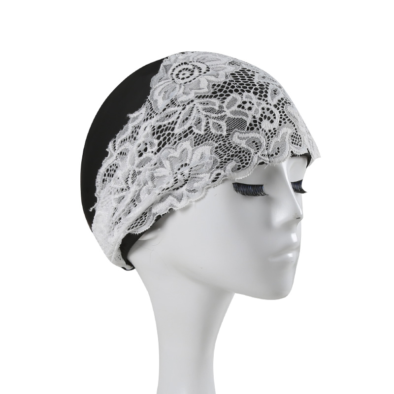 Beautiful Women Lace Beach Quick Dry Swimming Cap Girls Flower Elastic Hollow Out Bathing Hat Swimming Pool Caps