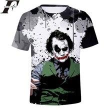 3D Print Joker T-Shirt Hero Anime Short Sleeve Fashion Regular Cotton T-shirt Man/Women Clothes Plus Size 4XL