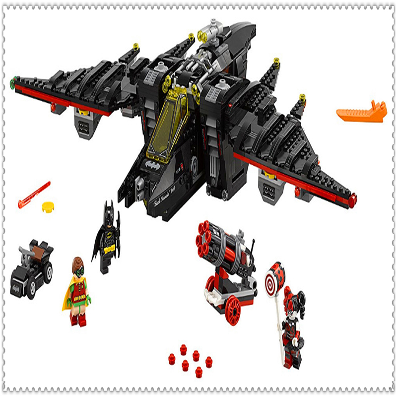 LEPIN 07080 Batman Series The Batwing Building Block 1068Pcs DIY Educational  Toys For Children Compatible Legoe lepin 07045 batman series racing car building block 559pcs diy educational toys for children compatible legoe