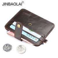 2017 Vintage Hasp Leather Card Holder with Coin Purse Slots Male Wallet Purse for Men Free Shipping