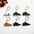 Cute Silicone Sneaker Key chain Kids Keychain Key Rings Key Holder for Woman and Girl Gifts Llaveros Chaveiro porte clef