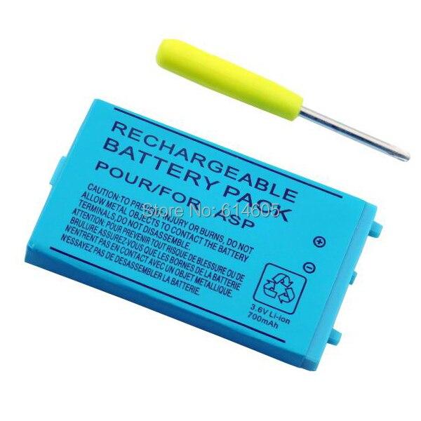700 mah Ricaricabile Batteria agli ioni di Litio + Strumento Kit Pack per Nintendo GBA SP