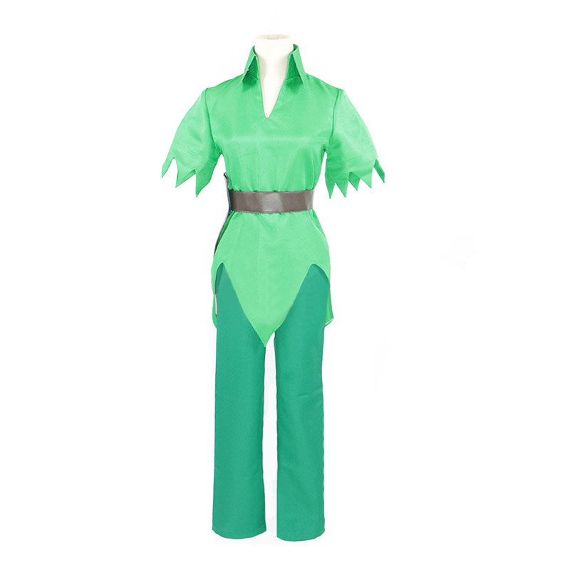 Adult Men Peter Pan Costume Green Fancy Dress Carnival Party Cosplay Costume Custom Made