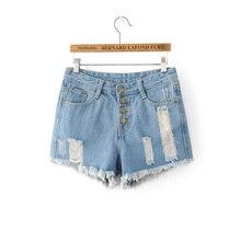 2017 летние шорты женщин случайные джинсовые шорты рваные джинсы девушку slim штаны женщины