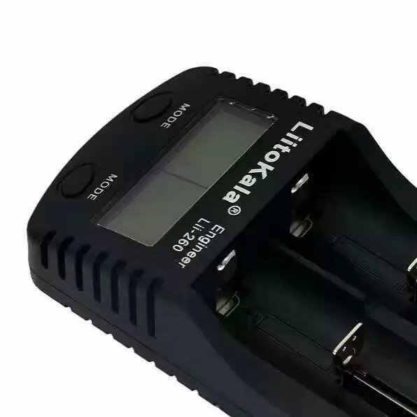 LiitoKala lii-260 LCD 3.7 فولت 18650/26650/16340/14500/10440/18500 البطارية شاحن مع النسيج