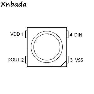 10 ~ 1000 PCS WS2812B Led Chip WS2812 Schwarz/Weiß Version (4Pin) RGB Smart Individuell Adressierbare Digitale DC5V